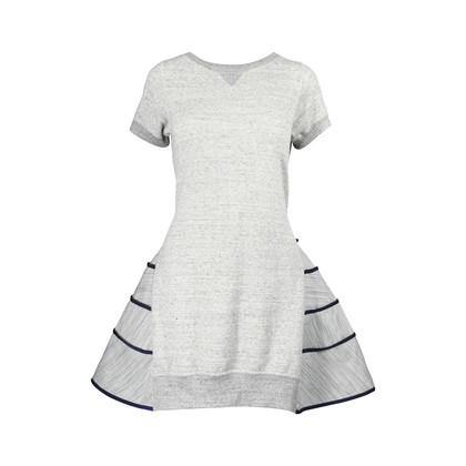 Authentic Second Hand Sacai Cotton-Blend Ruffle-Tiered Dress (PSS-200-00633)