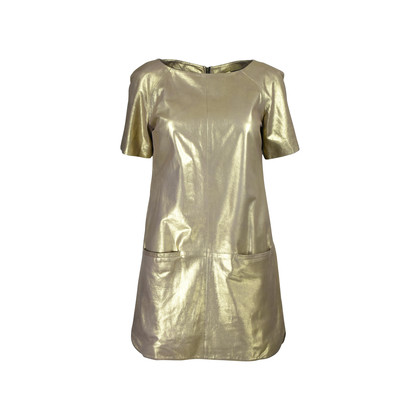 Authentic Second Hand Rebecca Minkoff Gold Lambskin Dress (PSS-200-00629)