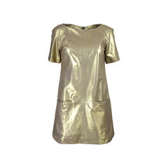 Gold Lambskin Dress
