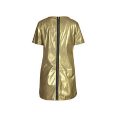 Rebecca minkoff gold lambskin dress 2?1505973751
