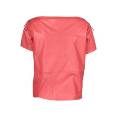 Louis vuitton red leather top 2?1506313074