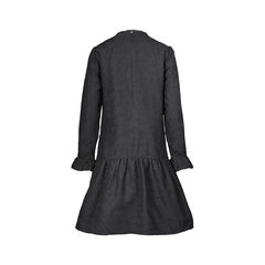 Chloe ruffle details black silk dress 2?1506313151