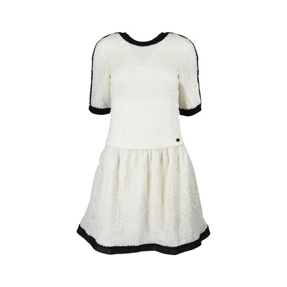 Authentic Second Hand Chanel Monochromatic Knit Dress (PSS-200-00577)