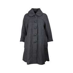 Linen Knee-Length Coat