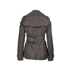 Burberry the sandringham short cotton gabardine trench coat 2?1506314981