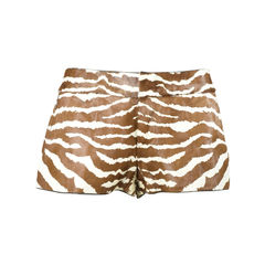 Zebra Print Calf Hair Shorts