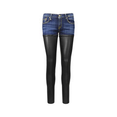 Skinny Leather Chap Jeans
