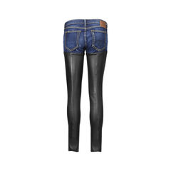 R 13 leather panel denim pants 2?1506488367