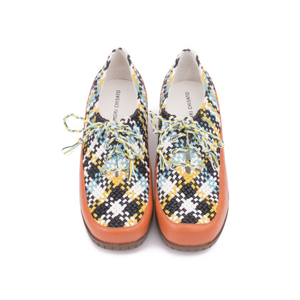 Authentic Second Hand Tsumori Chisato Woven Lace-up Shoes (PSS-200-00846)