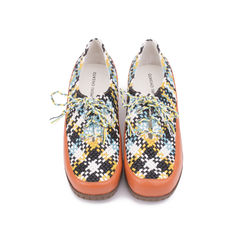 Woven Lace-up Shoes