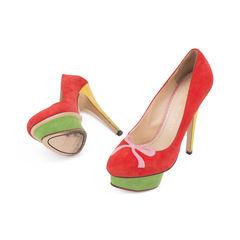 Charlotte olympia arabella color block suede pumps 2?1506918030