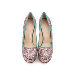 Priscilla Glitter Pumps