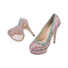Charlotte olympia priscilla glitter pumps 2?1506918088