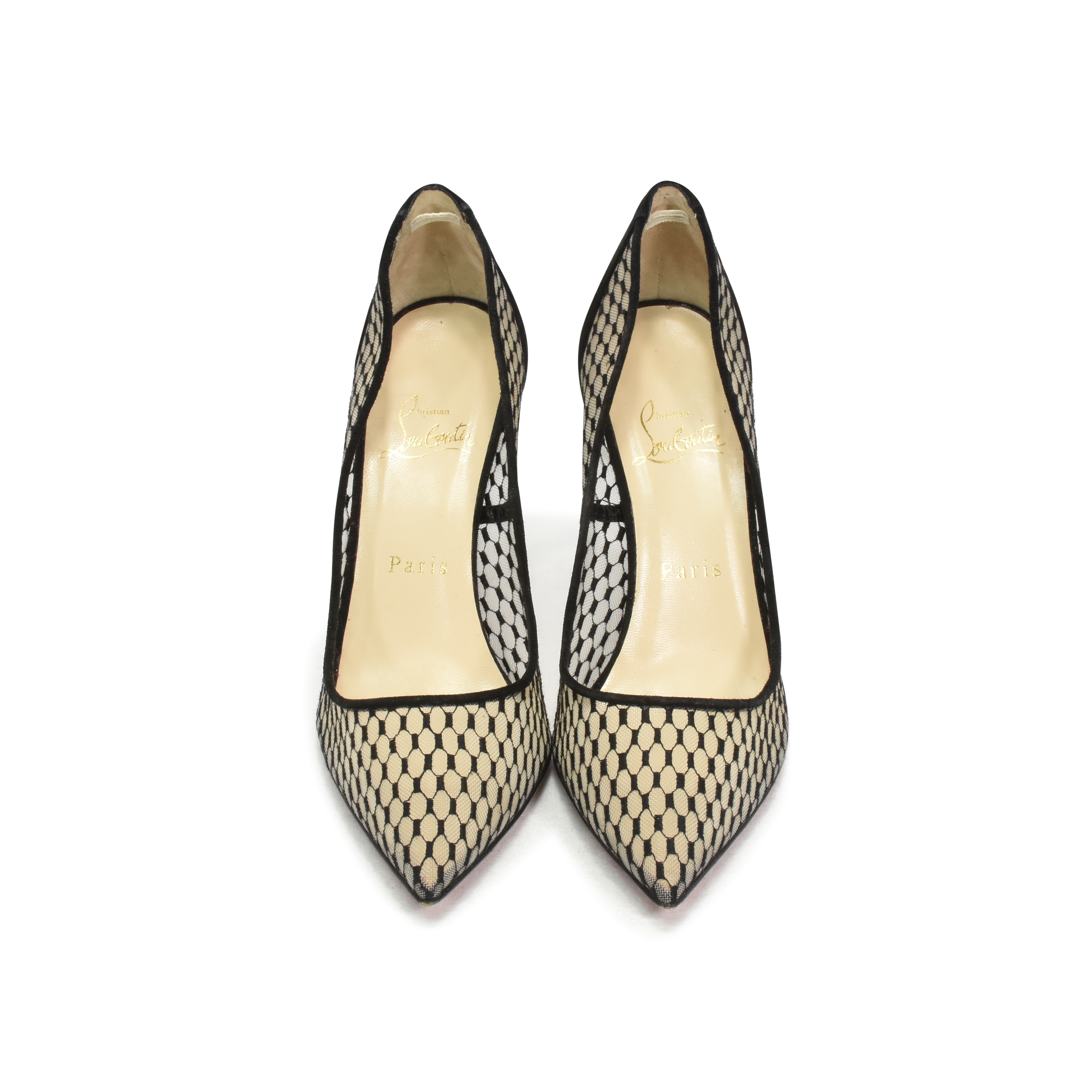 b04596df5b9 Authentic Second Hand Christian Louboutin Pigaresille 100 Mesh Suede Pumps  (PSS-395-00001)