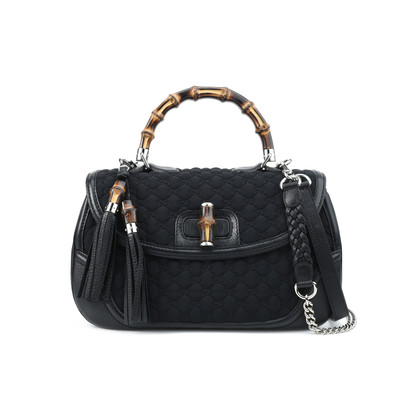 Gucci Bamboo Classic Bag Black