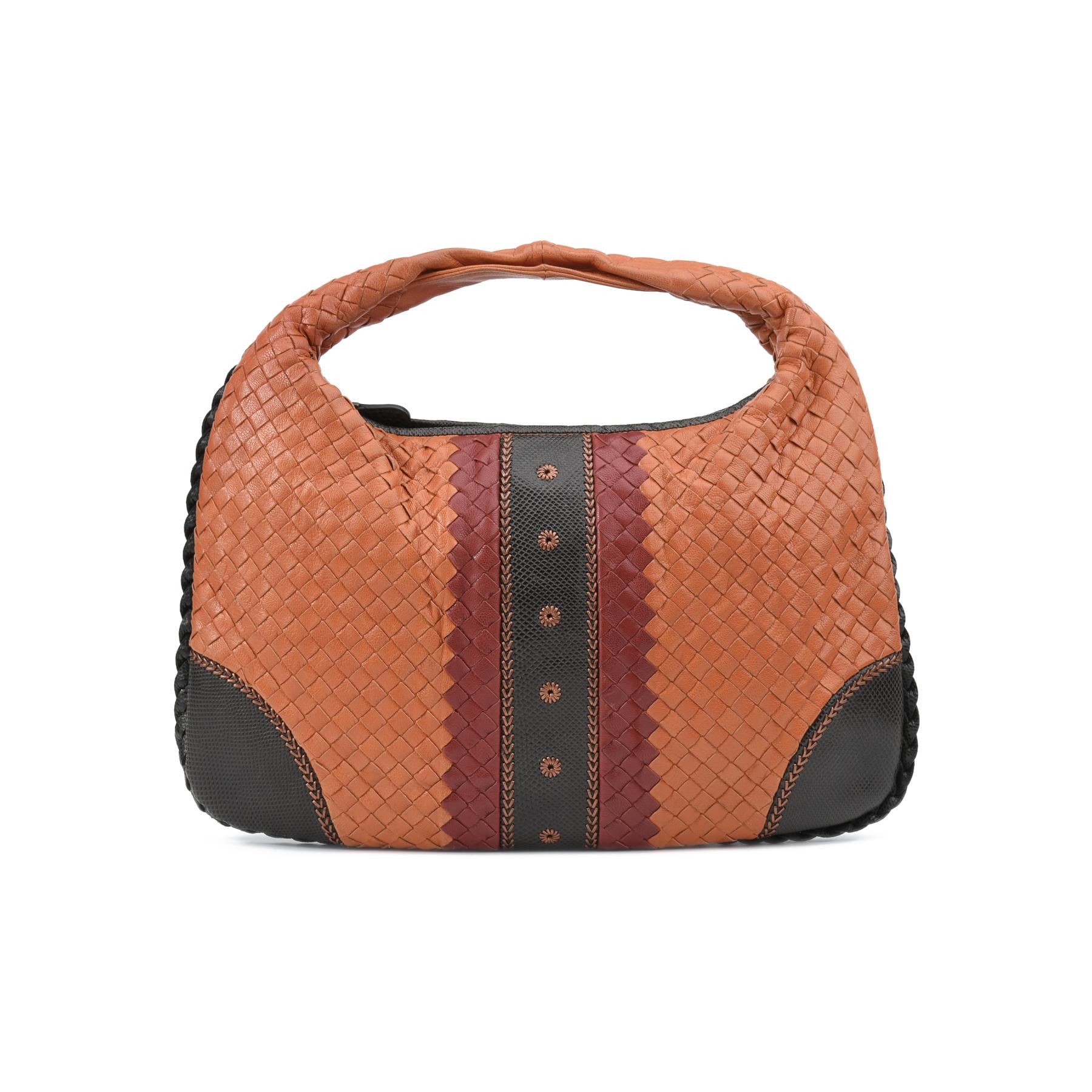 1bc67de0cbfd0 Authentic Second Hand Bottega Veneta Karung Trimmed Intrecciato Hobo Bag  (PSS-247-00073)