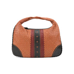 Karung Trimmed Intrecciato Hobo Bag