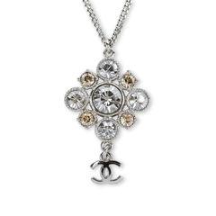 Crystal CC Flower Dangle Pendant
