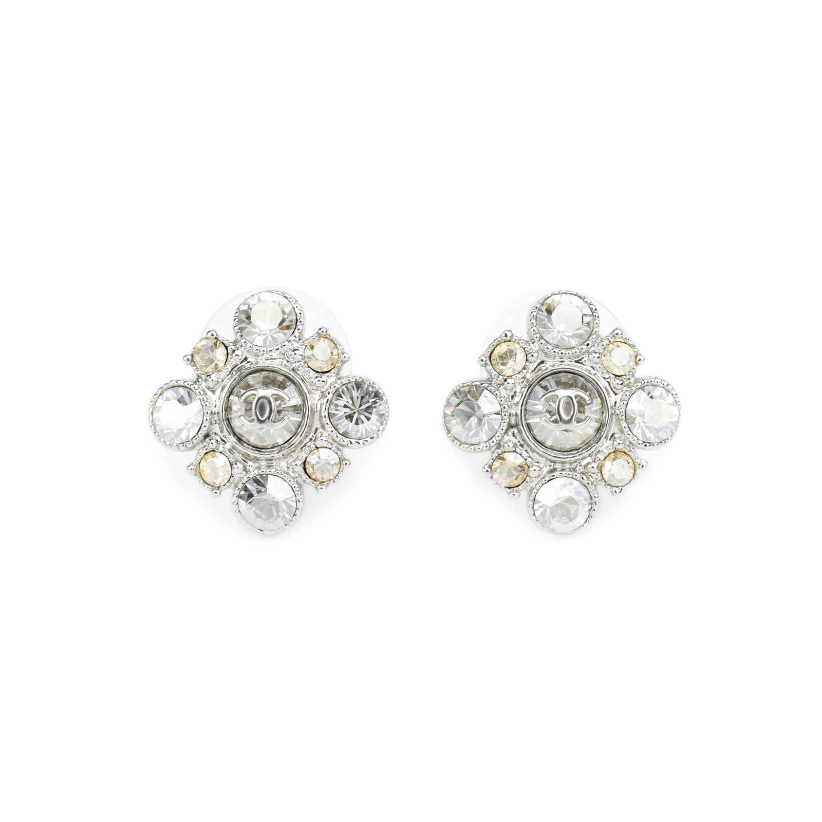 Authentic Pre Owned Chanel Crystal Flower Earrings Pss 247 00025 Thumbnail