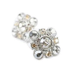 Chanel crystal flower earrings 2?1507107732