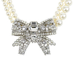 Miu miu bow rhinestone necklace 1?1507264903