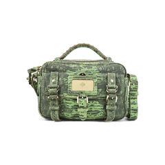 Lizard-Print Leather Shoulder Bag