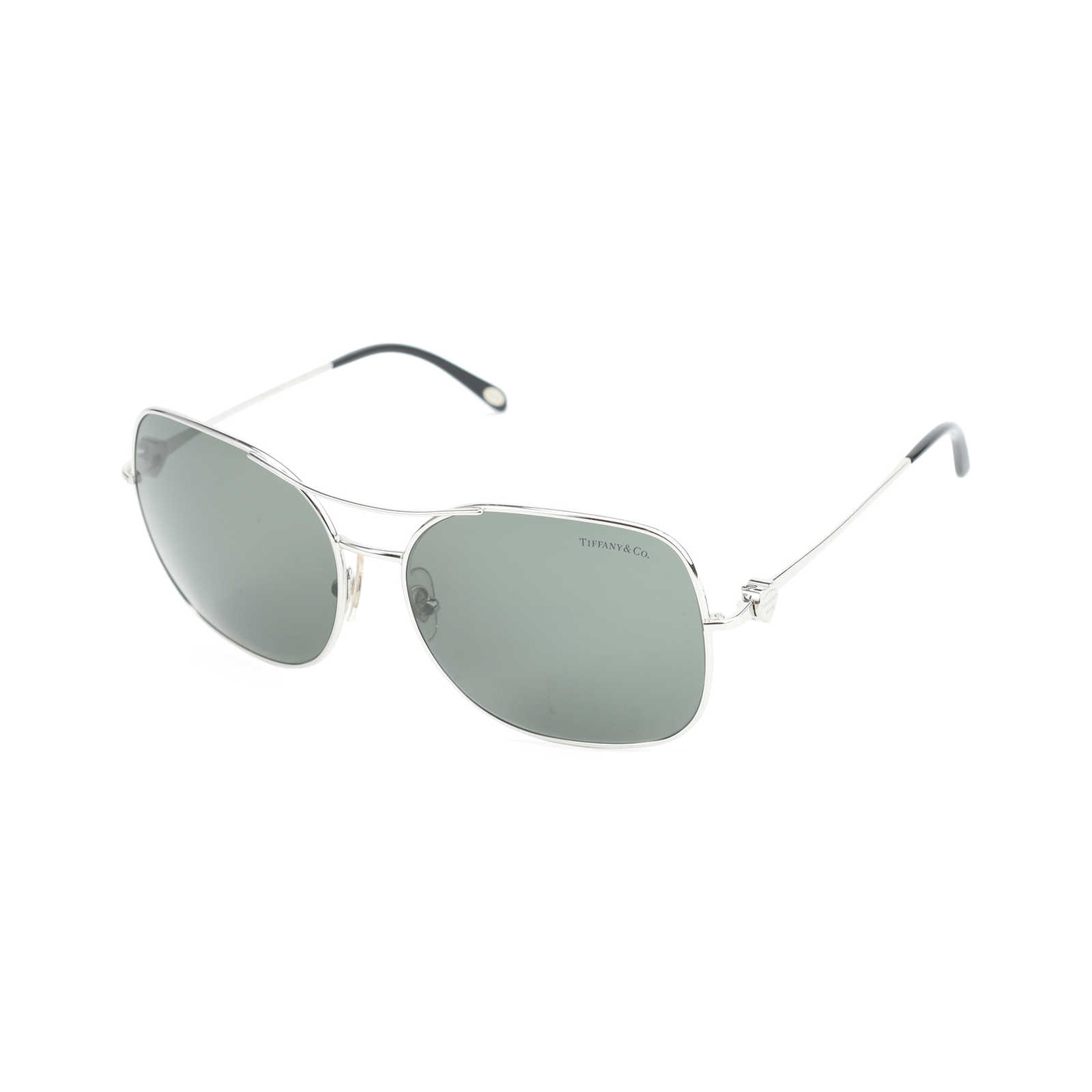 648c645e5b ... Authentic Second Hand Tiffany   Co Aviator Bow Sunglasses  (PSS-413-00016) ...
