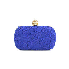 Floral Lace Skull Box Clutch