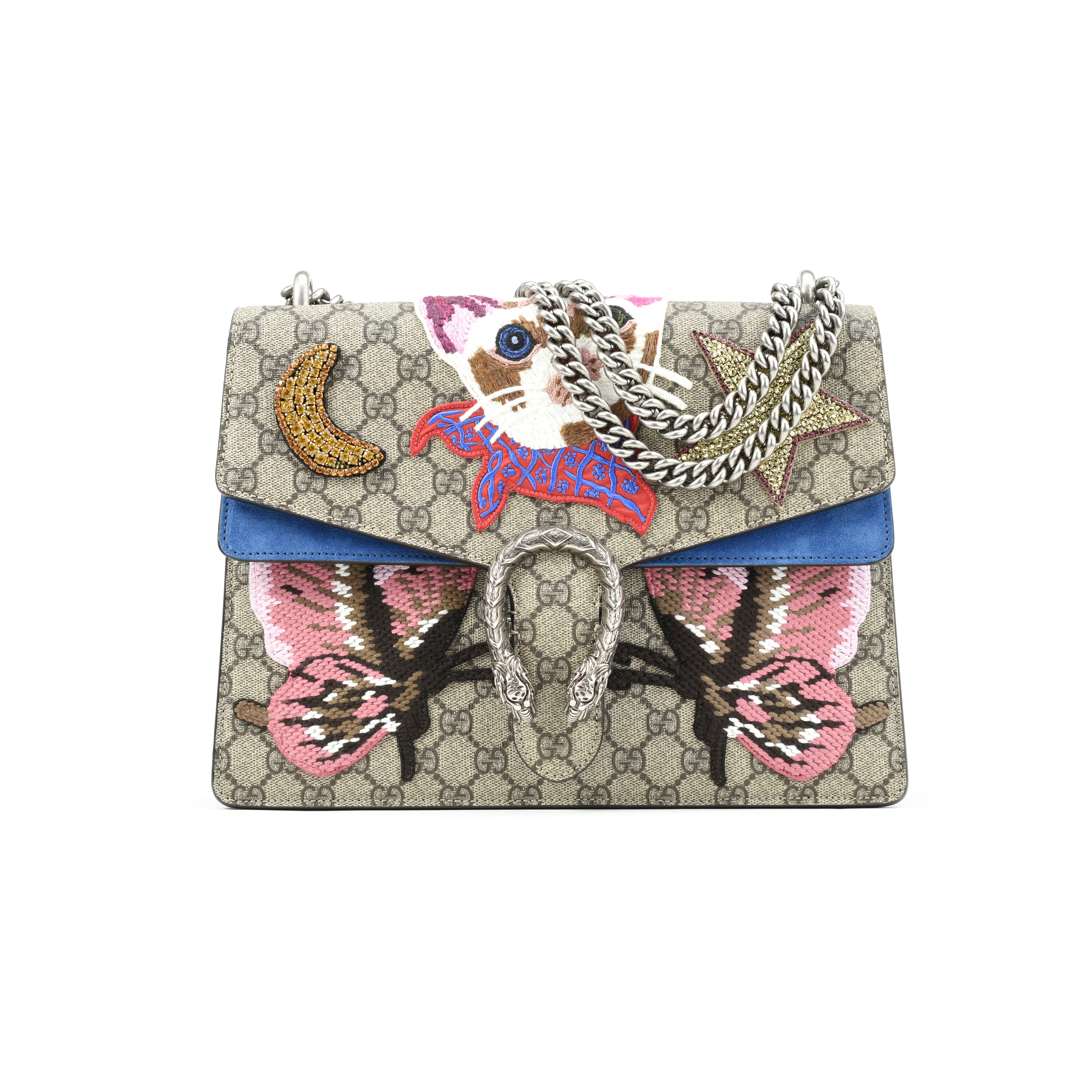 5026b0c66 Authentic Second Hand Gucci Dionysus Marmont Embroidered Cat Shoulder Bag  (PSS-200-00990) - THE FIFTH COLLECTION