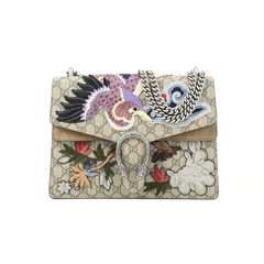 Dionysus Bird Embroidered Shoulder Bag