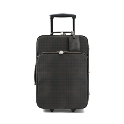 Authentic Second Hand Burberry Checked Two-wheel Suitcase (PSS-413-00001)