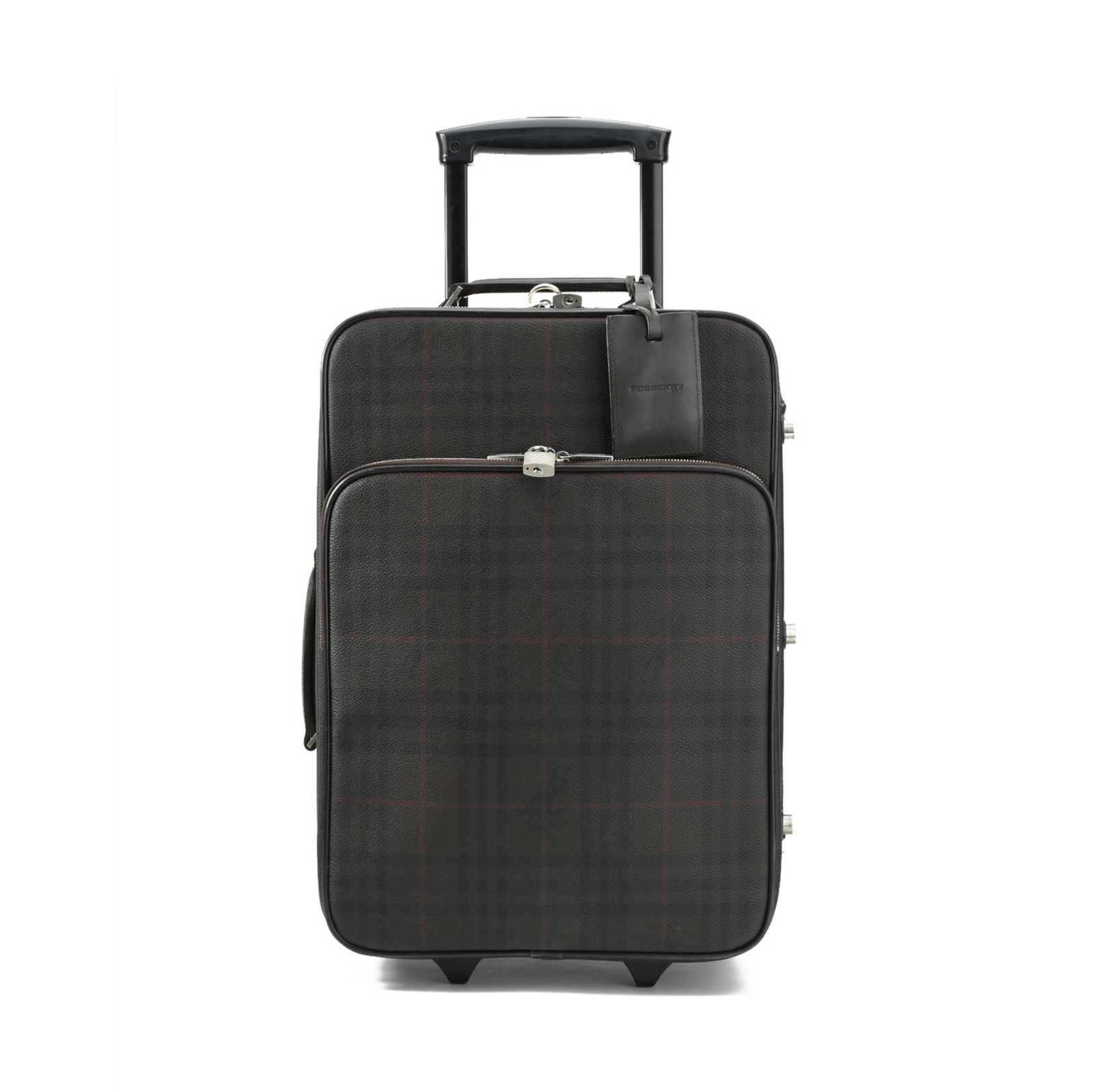 Authentic Second Hand Burberry Checked Two Wheel Suitcase
