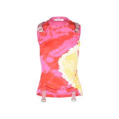 Tie-Dye Silk Jersey Tank Top