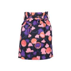 Watercolour Print Skirt