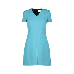 V-neck Box Pleat Dress