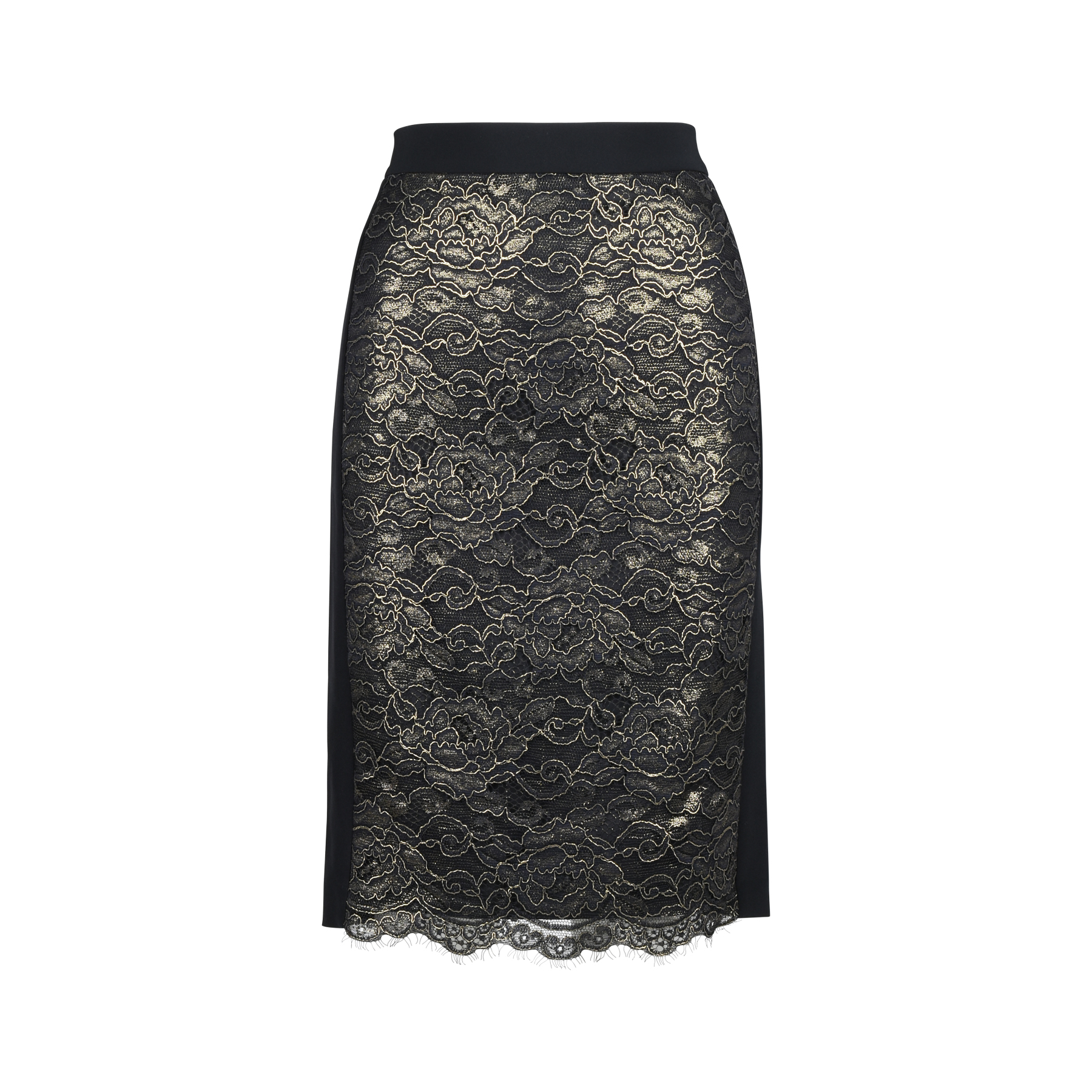 75bf6bf53b063 Authentic Second Hand DKNY Lace Pencil Skirt (PSS-394-00016)