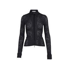 Long Sleeve Zip-Up Textured Top