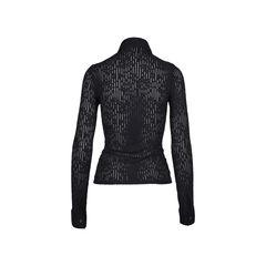 Rayure long sleeve zip up textured top 2?1509077646