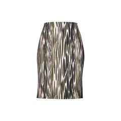 Emma Printed Mikado and Stretch-Jersey Skirt