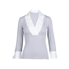 Nivine Collared 3/4 Sleeve Blouse