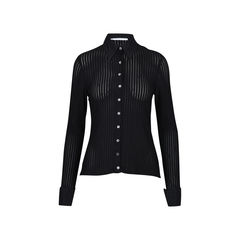 Long Sleeve Button Up Textured Shirt