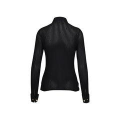 Rayure long sleeve button up textured shirt 2?1509078022