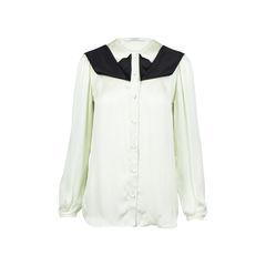 Gathered Shoulder Silk Blouse