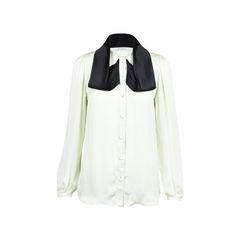 Givenchy gathered shoulder silk blouse 2?1509339543