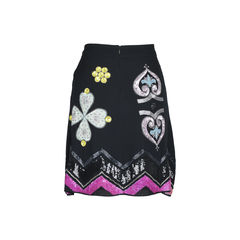 Matthew williamson floral embellished skirt 2?1509339897