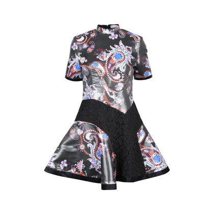 Mary Katrantzou Laminated Paisley Dress