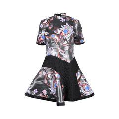 Laminated Paisley Dress