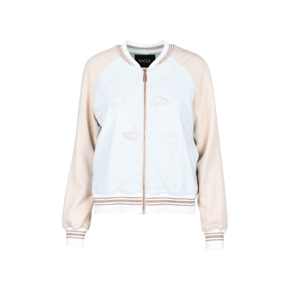 Authentic Second Hand Raoul Embroidered Stretch-crepe and Tulle Bomber (PSS-200-00836)