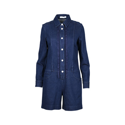 Authentic Second Hand See by Chloe Embroidered Denim Playsuit (PSS-200-00821)