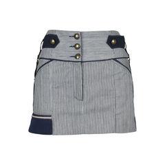 Pinstriped Denim Skirt